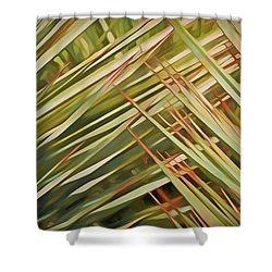 Shower Curtain featuring the mixed media Light Touch 12  by Lynda Lehmann
