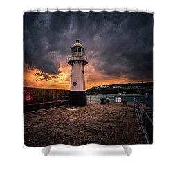 Lighthouse Dramatic Sky Shower Curtain
