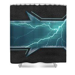 Lightning-centric Shower Curtain
