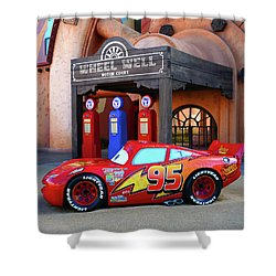 Lightning Mcqueen And Art Of Animation Shower Curtain