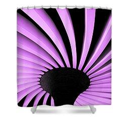 Lilac Fan Ceiling Shower Curtain