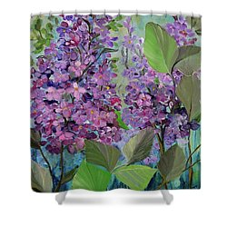 Lilac Love Shower Curtain