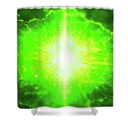 Limitless Heart Shower Curtain