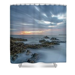 Shower Curtain featuring the photograph Lines - Matosinhos 2 by Bruno Rosa