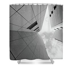 Shower Curtain featuring the photograph Lines - Matosinhos by Bruno Rosa
