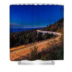Linn Cove Viaduct - Blue Ridge Parkway Shower Curtain