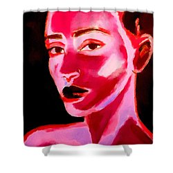Lips Of Silence Shower Curtain