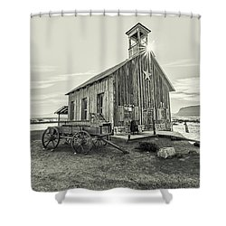 Shower Curtain featuring the photograph Little Far West by Andy Crawford