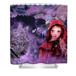 Little Red Shower Curtain