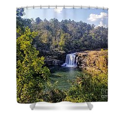 Shower Curtain featuring the photograph Little River Canyon Falls Alabama by Rachel Hannah