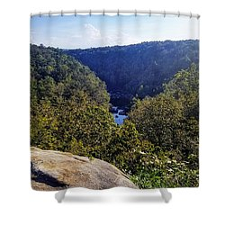 Shower Curtain featuring the photograph Little River Canyon Overlook Alabama by Rachel Hannah