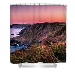 Lizard Point Sunset - Cornwall Shower Curtain