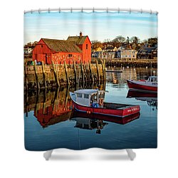 Lobster Traps, Lobster Boats, And Motif #1 Shower Curtain