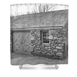 Lock House, Detail - Waterloo Village Shower Curtain
