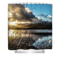 Lofoten Sunset Shower Curtain