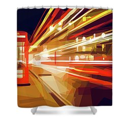 London Phone Box Shower Curtain