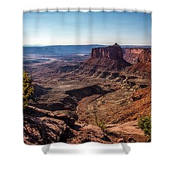 Shower Curtain featuring the photograph Lonely Butte by David Morefield