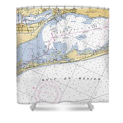 Longboat Ket Florida Noaa Nautical Chart Shower Curtain