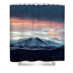 Longs Peak At Sunset Shower Curtain