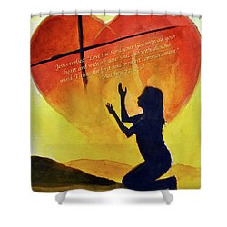 Love The Lord Shower Curtain