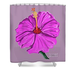 Lovely Pink Hibiscus Shower Curtain