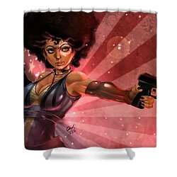 Shower Curtain featuring the painting Lucky Domino by Pete Tapang