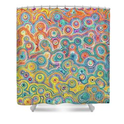 Shower Curtain featuring the painting Luke 2 13-14. Glory In The Highest by Mark Lawrence