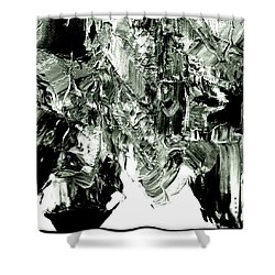 Luscious  Grayscale  Abstract Shower Curtain