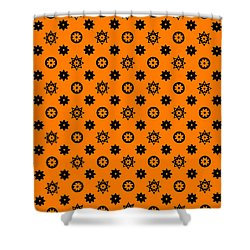 Lv Orange Black Art Shower Curtain