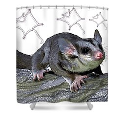 M Is For Mahogany Glider Shower Curtain