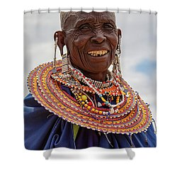 Maasai Woman In Tanzania Shower Curtain