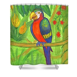 Macaw Parrot In The Wild Shower Curtain