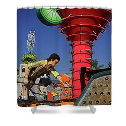 Shower Curtain featuring the photograph Mack The Knife by Skip Hunt