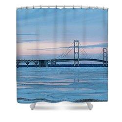 Mackinac Bridge In Ice 2161803 Shower Curtain