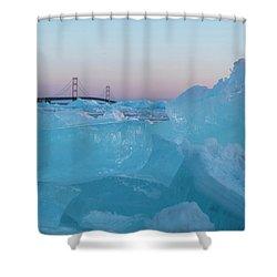 Mackinac Bridge In Ice 2161805 Shower Curtain