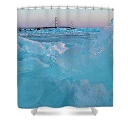 Mackinac Bridge In Ice 2161806 Shower Curtain