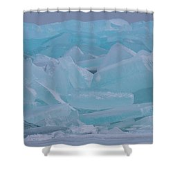 Mackinaw City Ice Formations 21618010 Shower Curtain