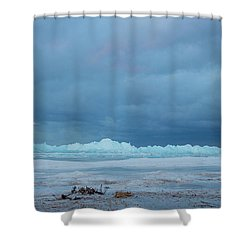 Mackinaw City Ice Formations 21618011 Shower Curtain