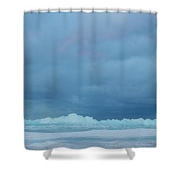 Mackinaw City Ice Formations 21618012 Shower Curtain