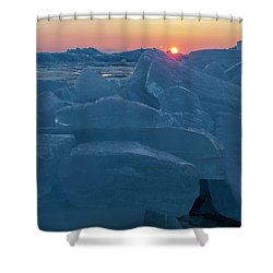 Mackinaw City Ice Formations 21618013 Shower Curtain
