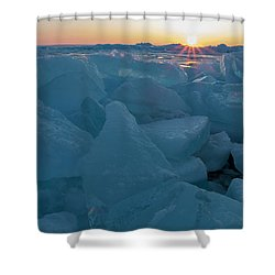 Mackinaw City Ice Formations 21618014 Shower Curtain