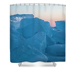 Mackinaw City Ice Formations 2161804 Shower Curtain