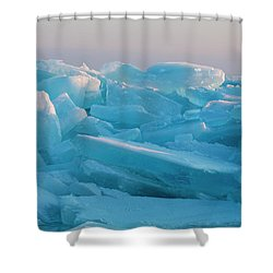 Mackinaw City Ice Formations 2161807 Shower Curtain