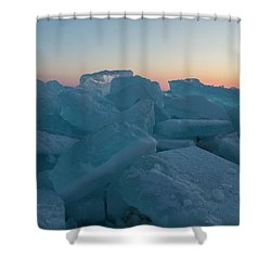 Mackinaw City Ice Formations 2161808 Shower Curtain