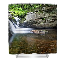 Shower Curtain featuring the photograph Mad River Falls by Nathan Bush