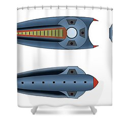 Maggotroll Frigate Schema Shower Curtain