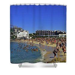 Shower Curtain featuring the photograph Maho Beach by Tony Murtagh