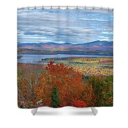 Maine Fall Colors Shower Curtain