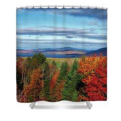 Maine Fall Foliage Shower Curtain