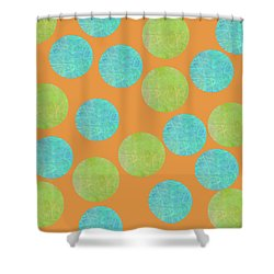 Malaysian Batik Polka Dot Print Shower Curtain